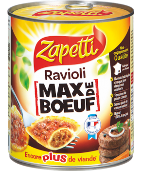 Ravioli Max de boeuf zappeti