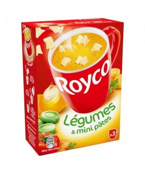 Légumes et mini pâtes Royco