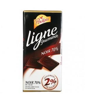 Chocolat Poulain Ligne Gourmande noir 70% cacao