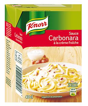 Sauce carbonara à la crème...