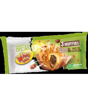 3 Muffins Chocolat Noisettes