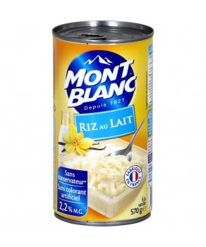Riz au lait vanillé Mont Blanc