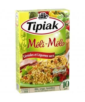 Plat cuisiné céréales et légumes secs