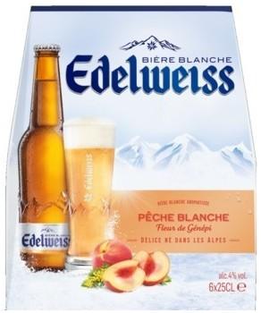 Bières Edelweiss pêche blanche