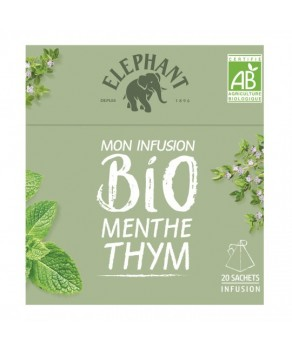 Infusions Eléphant Menthe Thym Bio
