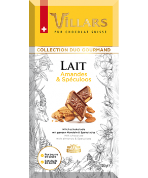 Chocolat Lait Villars Amandes & Spéculoos
