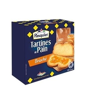 Tartines de pain Briochée Pasquier