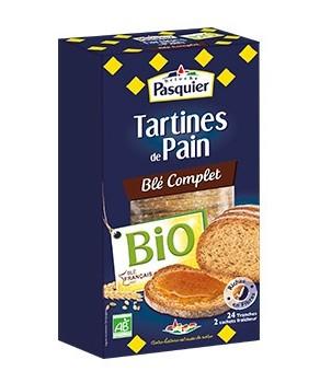 Tartines de pain au Blé Complet Bio Pasquier