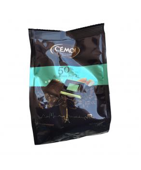Carrés de chocolat noir au Cacao et Amandes Cémoi