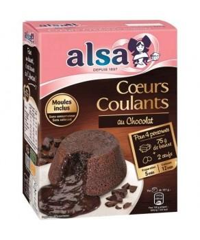 Cœurs coulants au chocolat...