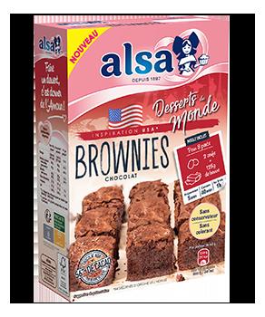 Brownies au chocolat Alsa