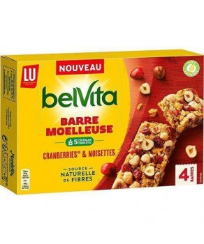 Barre moelleuse Cranberries & noisettes Belvita