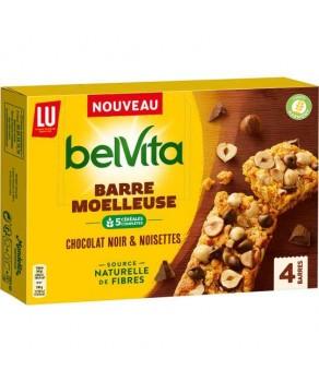 Barre moelleuse chocolat noir & noisettes Belvita