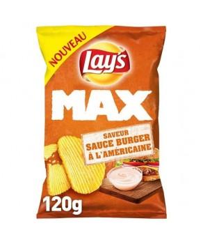 Chips Lay's max sauce burger à l'américaine