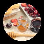 Pâtes à tartiner, Confitures, Miels